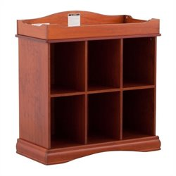 Stork Craft Beatrice 6 Cube Organizer/Change Table in Cognac