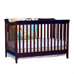 Stork Craft Giovanna 2-in-1 Fixed Side Convertible Crib in Cherry