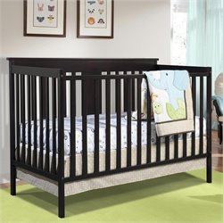 Stork Craft Mission Ridge Convertible Crib in Espresso