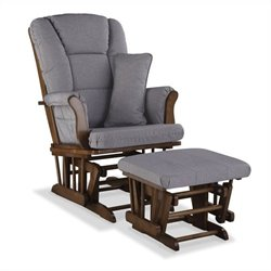 Stork Craft Tuscany Custom Glider and Ottoman in Dove Brown and Slate Gray