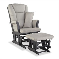Stork Craft Tuscany Custom Glider and Ottoman in Gray and Taupe