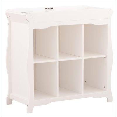 Stork Craft Aspen 6 Cube Organizer/Change Table in White