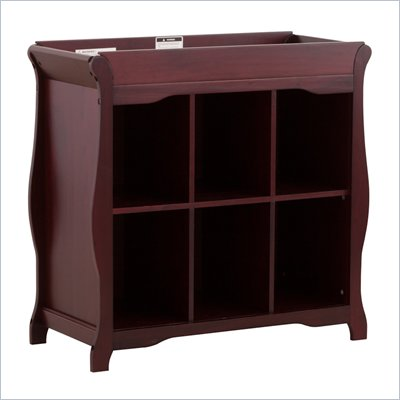 Stork Craft Aspen 6 Cube Organizer/Change Table in Cherry