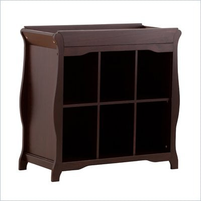 Stork Craft Aspen 6 Cube Organizer/Change Table in Espresso