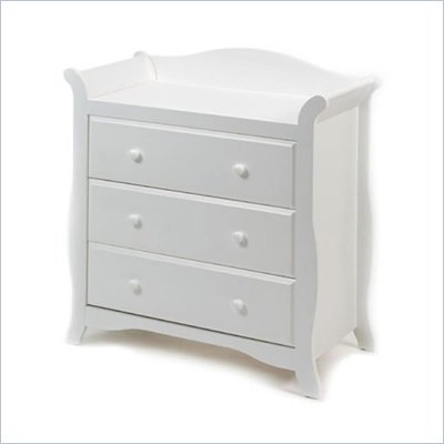Stork Craft Aspen 3 Drawer Chest in White Finish