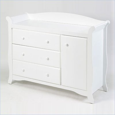 Stork Craft Aspen Combo Dresser in White