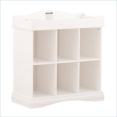 Stork Craft Beatrice 6 Cube Organizer/Change Table in White