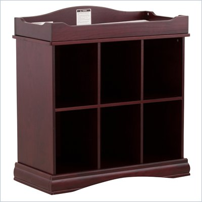 Stork Craft Beatrice 6 Cube Organizer/Change Table in Cherry