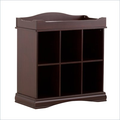 Stork Craft Beatrice 6 Cube Organizer/Change Table in Espresso
