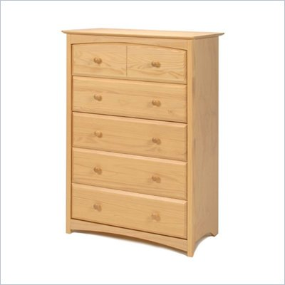 Stork Craft Beatrice 5 Drawer Chest in Natural Finish