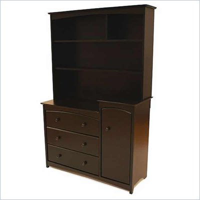 Stork Craft Beatrice Combo Tower & Hutch in Espresso
