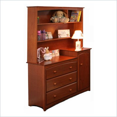 Stork Craft Beatrice Combo Tower &amp; Hutch in Cognac Brown