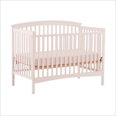 Stork Craft Bradford 4-in-1 Fixed Side Convertible Crib in White