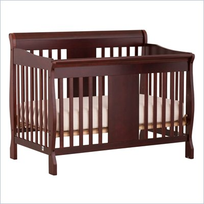 Storkcraft Calabria 4 in 1 Fixed Side Convertible Crib in Cherry