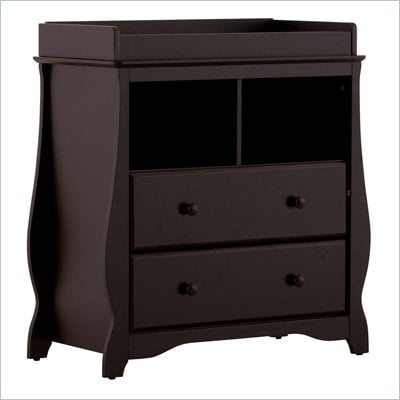 Stork Craft Carrara 2 Drawer Changing Table in Black