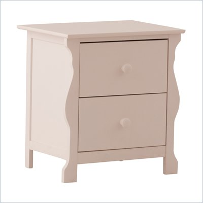 Stork Craft Carrara Night Table in White