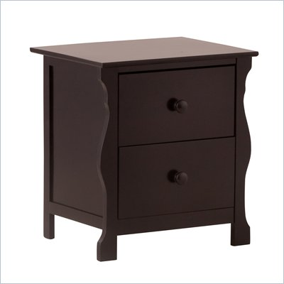 Stork Craft Carrara Night Table in Black