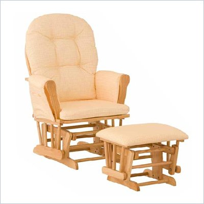 Stork Craft Natural Hoop Glider &amp; Ottoman