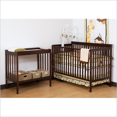 Stork Craft Milan 2-in-1 Convertible Crib &amp; Changer Combo