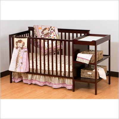 Stork Craft Milan 2-in 1 Crib and Changer in Cherry