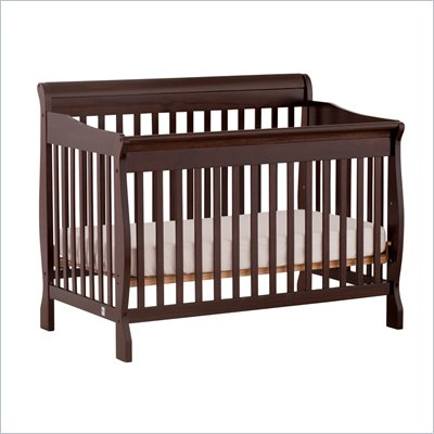 Stork Craft Modena 4 in 1 Fixed Side Convertible Crib in Espresso