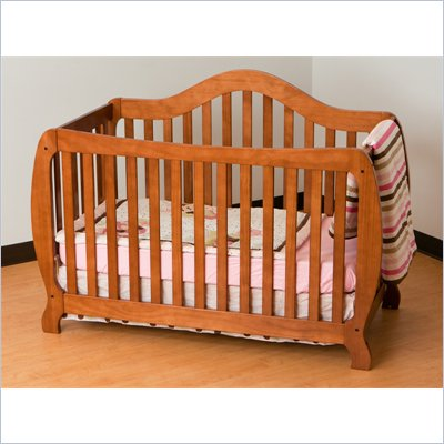 Stork Craft Monza 2-in 1 Fixed Side Convertible Crib in Oak