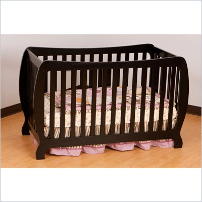 Stork Craft Monza II 2-in 1 Fixed Side Convertible Crib in Black