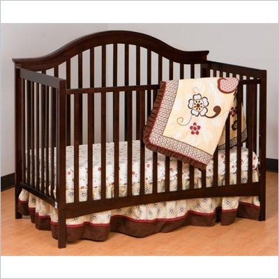 Stork Craft Ravena 2-in 1 Fixed Side Convertible Crib in Espresso