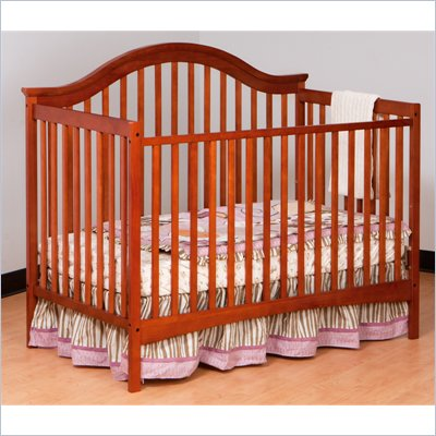 Stork Craft Ravena 2-in 1 Fixed Side Convertible Crib in Cognac