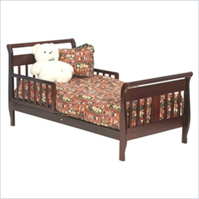Stork Craft Soom Soom Sleigh Toddler Bed in Cherry