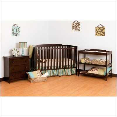 Stork Craft Turin Nursery In a Box in Espresso Finish