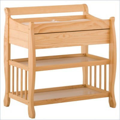 Stork Craft Tuscany Baby Changer with Drawer in Natural