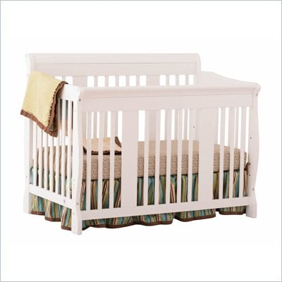 Stork Craft Tuscany 4-in-1 Stages Baby Crib in White