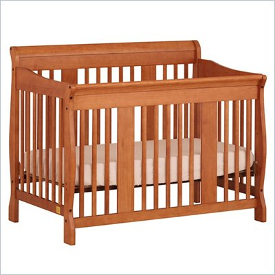 Stork Craft Tuscany 4-in-1 Stages Baby Crib in Cognac