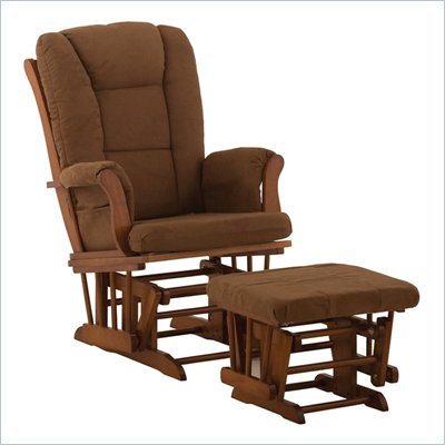 Stork Craft Tuscany Cognac &amp; Chocolate Glider &amp; Ottoman