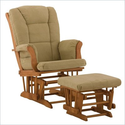 Stork Craft Tuscany Oak &amp; Sage Glider &amp; Ottoman