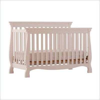 Stork Craft Venetian 4-in-1 Fixed Side Convertible Crib in White