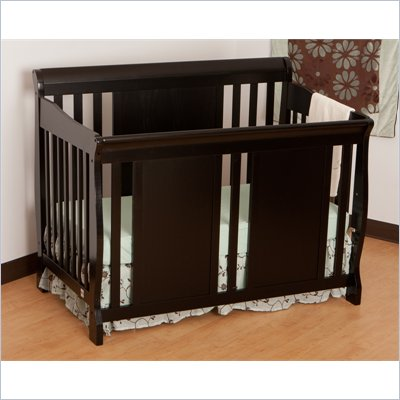 Stork Craft Verona Fixed Side 4-in-1 Convertible Crib in Black