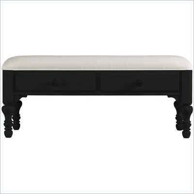 Stanley Furniture Coastal Living Bed End Bench in Deepwater Finish