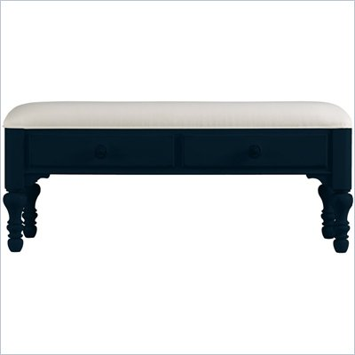 Stanley Furniture Coastal Living Bed End Bench in Navy Finish