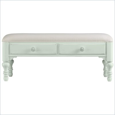 Stanley Furniture Coastal Living Bed End Bench in Morning Sky Finish