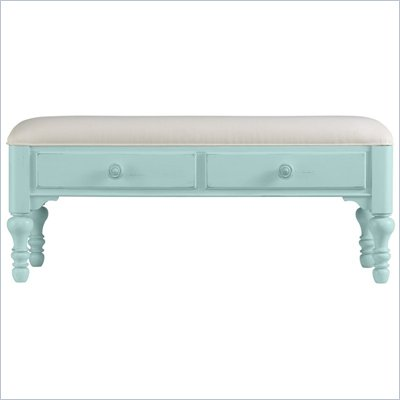 Stanley Furniture Coastal Living Bed End Bench in Sea Mist Finish