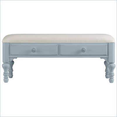 Stanley Furniture Coastal Living Bed End Bench in High Tide Finish