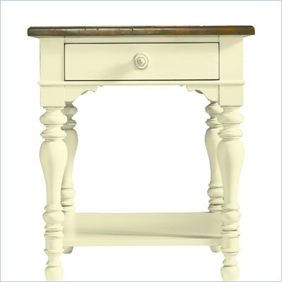 Stanley Coastal Living Lamp Table with Boardwalk Top