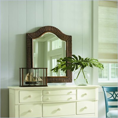 Stanley Furniture Coastal Living  Woven Mirror in Medium Woodtone