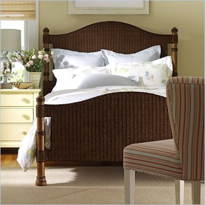 Stanley Furniture Coastal California King Living Woven Bed 4 Piece Bedroom Set in Medium Woodtone