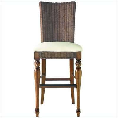 Stanley Coastal Living Woven Bar Stool in Boardwalk Finish