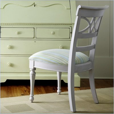 Stanley Coastal Living Sea Watch Ticking Marine Fabric Side Chair 