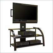Studio RTA Glass TV Stand Black/Dark Espresso