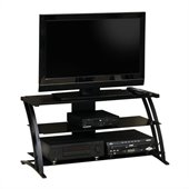 Studio RTA Deco Panel Glass TV Stand in Black